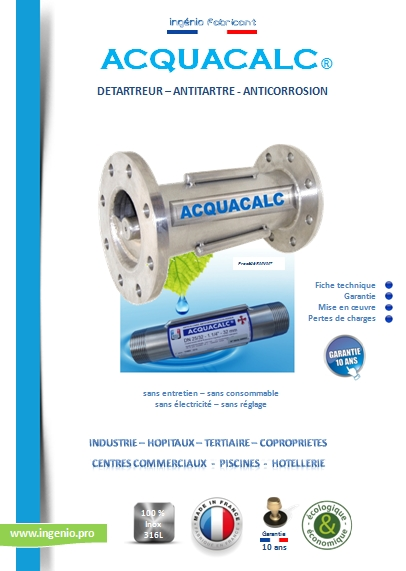 appareil anticalcaire traitement calcaire eau acquacalc