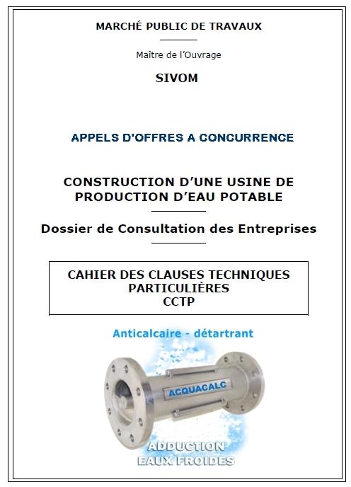systeme anti tartre traitement calcaire eau acquacalc